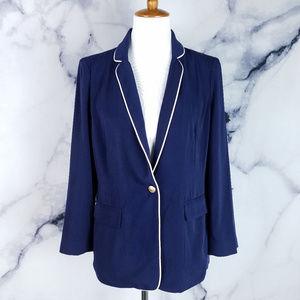 Skies Are Blue Blazer Medium Navy Blue Pockets